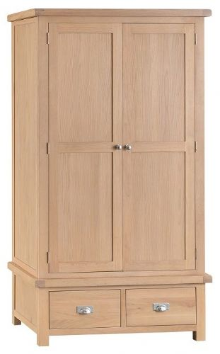 Oxford Oak Double Wardrobe With Drawers